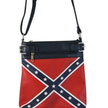 Flag: Confederate Rebel Flag Concealed Carry Purse Cross Body