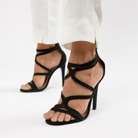 New Look Wide Fit Multi Strap High Heeled Sandal at asos.com