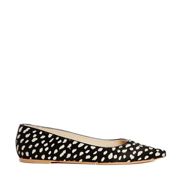 Whistles Brigette Spot Flat Pointed Shoes -
