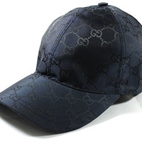 Gucci GG Nylon Baseball Cap, Navy Large 387578