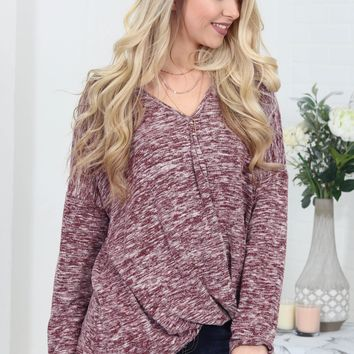 Stone Wine Knot Top