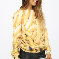 Mr Gugu & Miss Go - Fries Sweater - Print