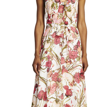 Halter Floral Printed Maxi Dress - Adrianna Papell