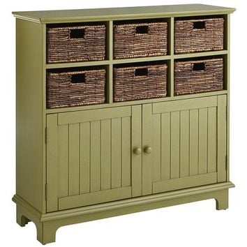 Holtom Cabinet - Antique Moss Green