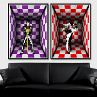 Joker And Harley Quinn (MultiColorArt Design) (2)A3 High Quality Poster