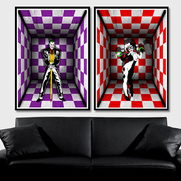 Best harley quinn joker poster products on wanelo for Harley quinn bedroom designs