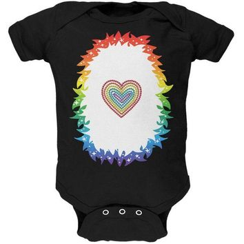 DCCKJY1 Halloween Rainbow Heart Unicorn Costume Pony Soft Baby One Piece