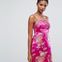 New Look Jacquard Mini Slip Dress at asos.com