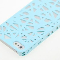 Wydan Ice Blue Birds Nest Woven Designed Ultra Thin Hard Case for iPhone 5 5S Cover