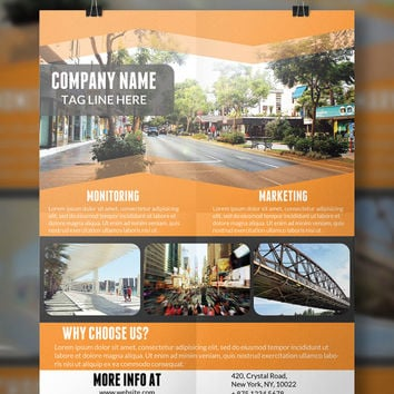 Corporate Business Flyer Template | Flyer Template | Business Flyer | PSD Template | Instant Download