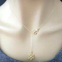 Anchor, Necklace, Graduation, Gift, Anchor,Key, Marine, Necklace, Summer, Beach, Jewelry, For, Her, Modern, Lariat, Necklace