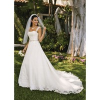 Cap Sleeve Organza A-Line Gown - Star Bridal Apparel
