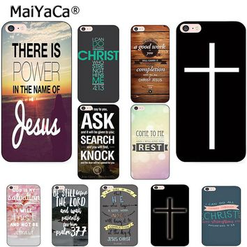 MaiYaCa Bible verse Philippians Jesus Christ Christian Phone Case for Apple iPhone 6s X 8 7 6 Plus 5 5S SE 4S Coque Shell