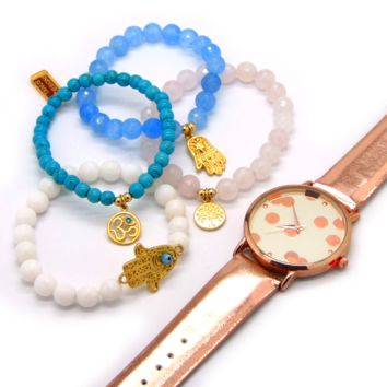 Christmas Gifts! Protection and Peace Bracelet set + Free Watch!