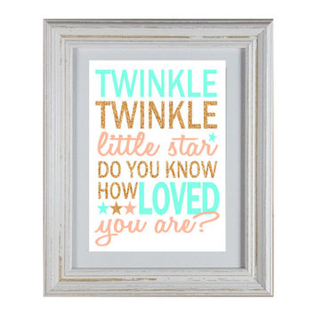Twinkle Twinkle Little Star Do You Know How Loved You Are - Quote DIY Wall Art Printable