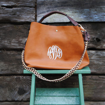 """""""The Ava"""" Monogrammed Hobo Purse with Companion Pouch"""