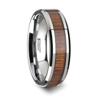 Acacia Koa Wood Tungsten Carbide Wedding Ring