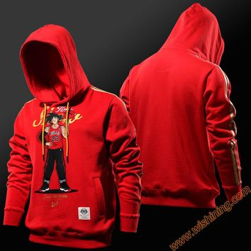 Wishining 2017 Dragon Ball Z Wukong Hoodied Full Zip Cool Dragonball Dbz Sweat Shirt Men Red Hooded Sweatshirt