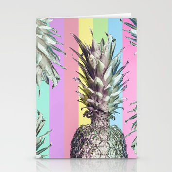 Pineapple Top Stationery Cards by cadinera