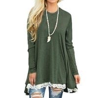 Casual Women Blouses And Tops Loose Shirts