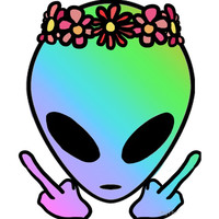 Festival Alien Sticker