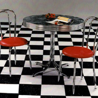 Soda Shoppe Chrome Dinette Set