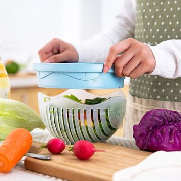 Salad Cutter Bowl - Wave Shape Easy Salad Maker