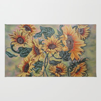 Hello Sunshine Rug by Angie's Dreamworks Art Studio
