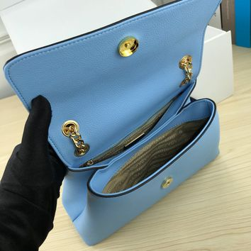 HCXX 1952 prada woc Head envelope with one shoulder inclined chain package blue