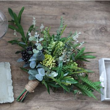 Wedding Bouquet Rustic Country Berry Bridal Bouquet