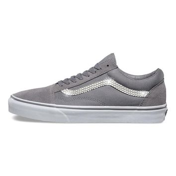 Vans Old Skool + Crystals - Frost Gray