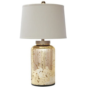 L430054 Shannin Glass Table Lamp (1/CN) - Gold Finish - Free Shipping!