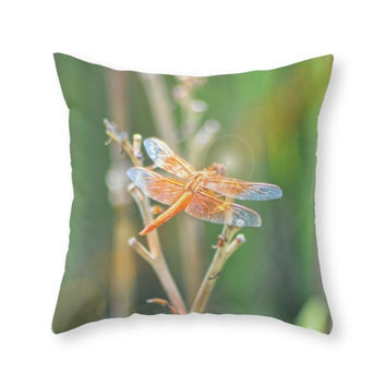Society6 Dragonfly Throw Pillow