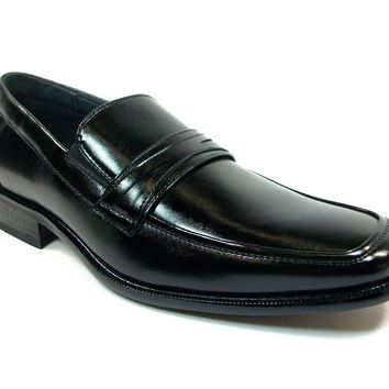 Mens Delli Aldo Penny Loafers Casual Dress Shoes 19269 Black-85