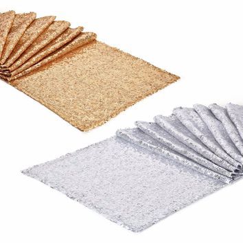 275x30cm Gold Silver Sequin Table Runner Bling Sparkly Runners Table for Wedding Decoration Home Texiles Event Party Supply