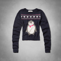 penguin intarsia sweater