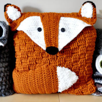 Woodland Friends Pillow Cover and Bag Crochet Patterns pdfs