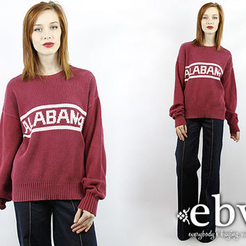 Vintage Alabama Sweater Vintage 80s Crimson Tide Sweater Alabama Gift