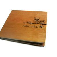 Scrapbook  Personalized Back and Front  -Custom Wood Wedding Album - For 12x12 pages
