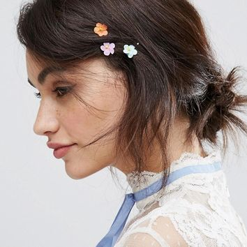 ASOS Pack of 10 Paper Flower Hair Clips at asos.com