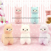 Japan Arpakasso Alpacasso Macaron Colour 10cm Key Chain Plush (Pick One)