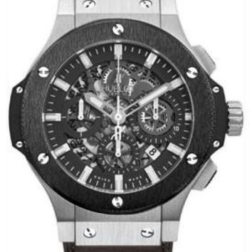 Hublot - Big Bang 44mm Aero Bang Stainless Steel And Ceramic