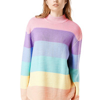 Women's Fashion Patchwork Pullover Sweater [6354250756]