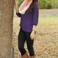 Beautiful In Bows Top: Purple/Pink