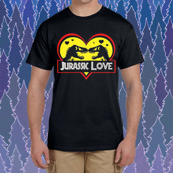 jurrassic love design for tshirt