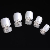 Yesurprise Butterfly Beads 10 pieces Silver 3D Alloy Nail Art Slices Glitters DIY Decorations