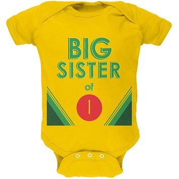 Crayon Big Sister of 1 Soft Baby One Piece
