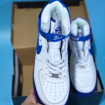 DCCK2 N453 Nike Air Force 1 Just Do It AF1 High Casual Sports Skate Shoes White Blue