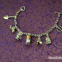 Haunted Mansion 7 Charm Bracelet, Crystal Ball, 999 Happy Haunts