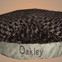 "Dog Bed - 25"" Ultimate Pillow with Detachable Blanket - Waterproof Liner - Memory Foam - Embroidered Personalization - Introductory Price"